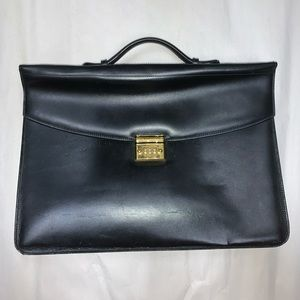 authentic MONT BLANC calfskin leather attac…